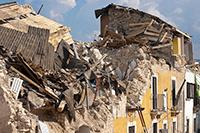 Звук землетрясения скачать — на фото разрушенный дом