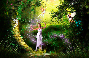 Перезвон колокольчиков в волшебном лесу с феями