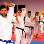 Тренировка карате — звуки карате и айкидо