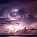 Скачать звук грома — на картинке грозовое темное небо