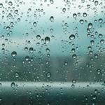 Капли на стекле — звук дождя по стеклу