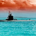 Подводная лодка на поверхности воды — иллюстрация к публикации «Звуки подводной лодки»