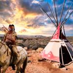 Индеец на лошади возле вигвама — звуки индейцев