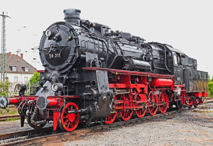 На фото паровоз — иллюстрация к публикации «Скачать звук паровоза»