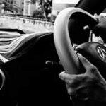 Звук резкого торможения машины